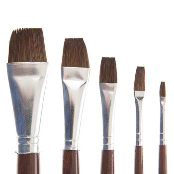 Camel Wash Paint Brushes - 5 Piece Set