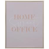 Home Sweet Office Wood Wall Decor