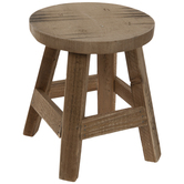Brown Wood Stool Plant Stand