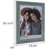 Rustic Turquoise Beveled Wall Frame - 11
