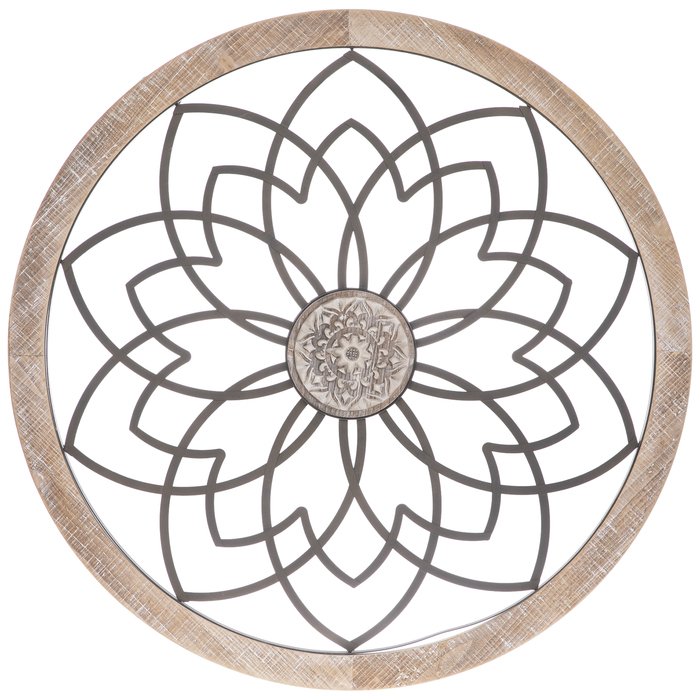 Flower With Medallion Circle Metal Wall, Round Wall Decor Hobby Lobby