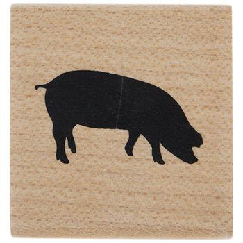 Pig Rubber Stamp