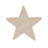 Star Wood Shapes - 1""