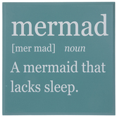 Mad Mermaid Definition Wood Wall Decor