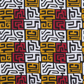 Red, White & Yellow Ankara Cotton Fabric