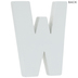 White Wood Letters W - 2