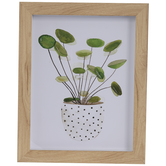 Leaves In Pot Framed Wall Decor
