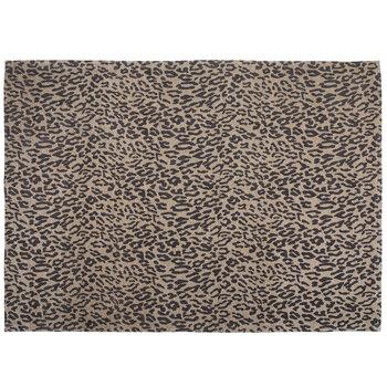 Cheetah Print Woven Chenille Rug
