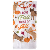 I Love Fall Most Of All Kitchen Towel
