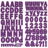 Purple Glitter Block Alphabet Stickers