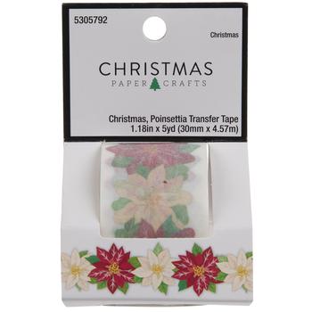 Poinsettia Transfer Tape