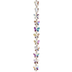 Crystal AB Gemcut Butterfly Glass Bead Strand