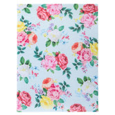 "Mint Rose Floral Felt Sheet - 9"" x 12"""