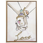 Love Holding Hands Canvas Wall Decor