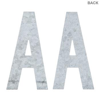 "Galvanized Metal Letters - 4"""