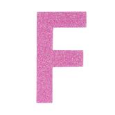 "Glitter Wood Letter F - 4"""