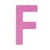 Glitter Wood Letter F - 4