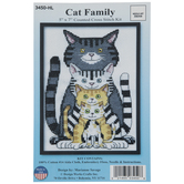 Cat Family Counted Cross Stitch Kit