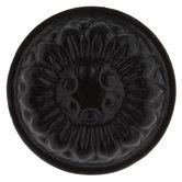Black Flower Round Metal Knob