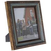 """Two Tone Turquoise Beveled Frame - 8"""" x 10"""""""