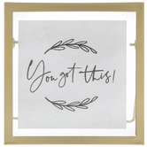 You Got This Framed Metal Decor