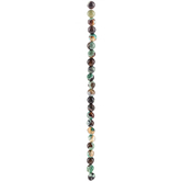 Green Mix Round Agate Bead Strand