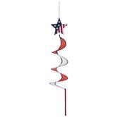 Red, White & Blue Star Spinner Flag