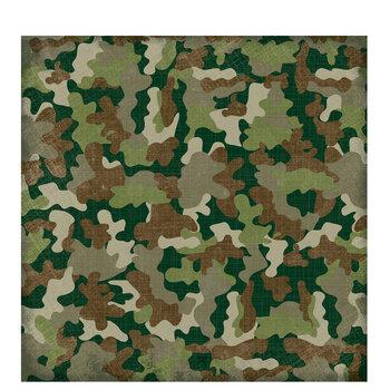 "Camouflage Textured Scrapbook Paper - 12"" x 12"""