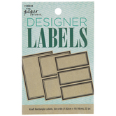 Kraft Rectangle Designer Labels