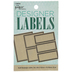 Kraft Rectangle Designer Labels