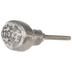 Silver & White Oval Metal Knob