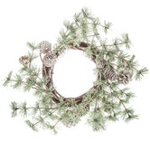 Snow Dusted Pine Candle Ring