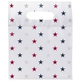 Red, White & Blue Star Zipper Bags
