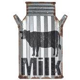 Milk Metal Jar Wall Decor