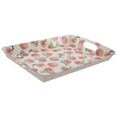 Watercolor Peaches Tray