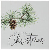 Merry Christmas Pine Branch Wood Decor