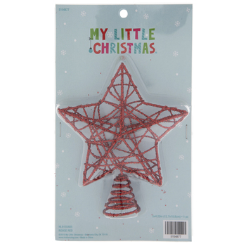 Red Glitter Wire Mini Tree Topper
