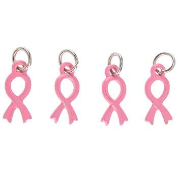 Pink Survivor Ribbon Charms