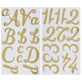 Script Alphabet Stickers