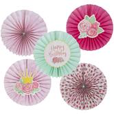 Floral Paper Fans
