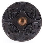 Glossy Black Diamond Knob