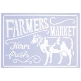 Farmers Market Cow Stencil