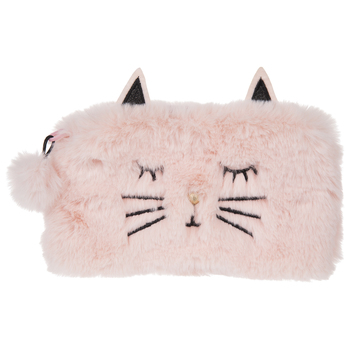 Pink Faux Fur Cat Pouch