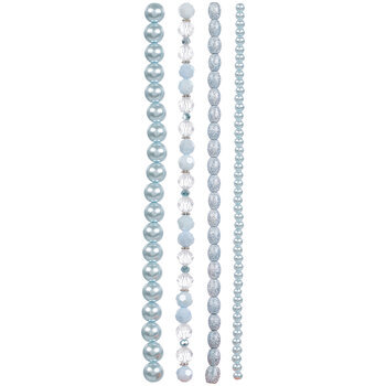 Blue Mixed Glass Bead Strands