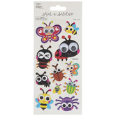 Cartoon Bugs Puffy Stickers