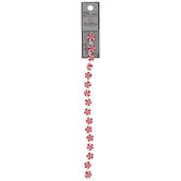 Red & White Round Peppermint Bead Strand