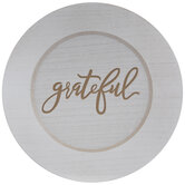 Grateful Wood Plate Charger