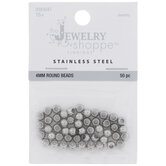 Stainless Steel Round Beads - 4mm