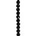 Jet Black Faceted Glass Bead Strand