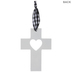 White Heart Cutout Wood Wall Cross